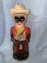 1950's The Lone Ranger Chalkware Carnival Prize Vintage Statue Figure