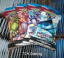 X36 Swsh Battle Styles Sealed Sleeved Blister Booster Packs - Pokemon Cards