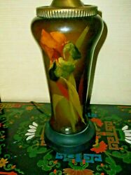 Antique Reverse Painted Db Post Lamp