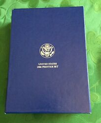 1986 Us Mint Prestige Set With Silver Liberty Dollar And 6 Other Proof Coins