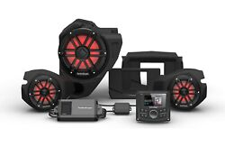 Rockford Fosgate Rzr14stg3 Stereo Front + Rear Speakers Sub And 800w Amp Kit