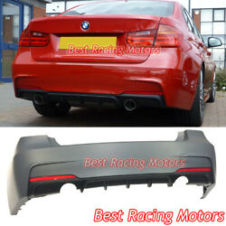 Performance Style Rear Bumper 2 Outlets [1 Tip / Outlet] Fit 12-18 Bmw F30 4dr