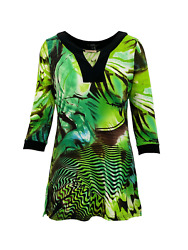 Lior Paris Abstract Forest Print 3/4 Sleeves Women's Tunic