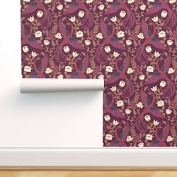 Peel-and-stick Removable Wallpaper Phoenix Bird Mythical Magical Fantasy Phoenix