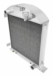 1928-1929 Ford Model A Radiator For Chevy Motor V8 Conversion 4 Row