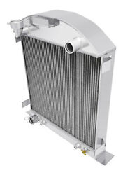 1928-1929 Ford Model A Radiator For Ford Motor V8 4 Row Champion