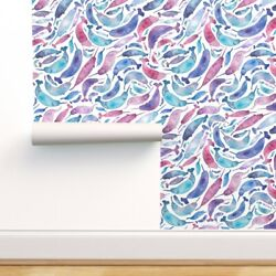 Wallpaper Roll Unicorn Mermaid Narwhal Whale Fantasy Mythical 24in X 27ft