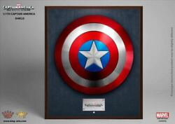King Arts Mps004 Marvel Captain America Shield 1/1 Scale Wall Mount Metal Alloy