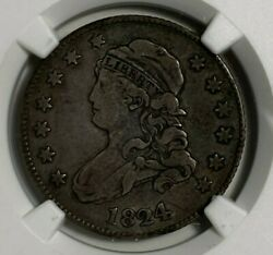 1824/2 B-1 Ngc Vf 20 Very Fine Capped Bust Silver Us Quarter 25c