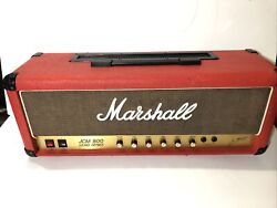 1986 Marshall Jcm 800 2203 Mk2 Master 100-watt Tube Head Estate Find As-is Red
