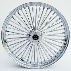 21 X 3.5 Fat Spoke Dual Disc Front Wheel For Harley Touring Baggers 2008-up Abs