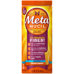 Metamucil Fiber Supplment Orange Smooth Flv