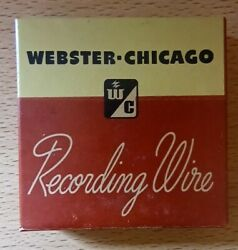 Lot Of 3 Boxes Webster Chicago Recording Wire W173 / Made In Chicago