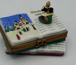 Limoges France Christmas Carolers Driehaus Holiday Party Trinket Box