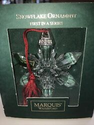 Marquis By Waterford Crystal 2003 Annual Snowflake Ornament 1st In Series Mib