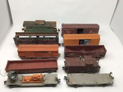 10 Lionel Freight, Cabooses 817,3464,3656,6411,6414,6456,6457,6462,6464,6520