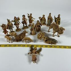 Vintage Depose Italy Nativity Pieces Figures Huge Lot As Is