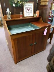 Vintage Primitive Walnut Dry Sink Cabinet Hand Crafted Local Pick Up
