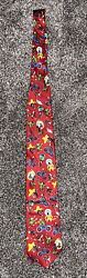 Euc Menand039s Novelty Tie Curious George Money Red Rm Style 57