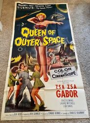 Queen Of Outer Space Three Sheet Movie Poster Zza Zza Gabor Hollywood Posters