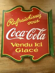 Vintage Coca-cola French Sign.