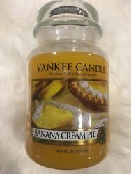 YANKEE CANDLE BANANA CREAM PIE LARGE 22oz RARE HTF FREE FAST SHIPPING