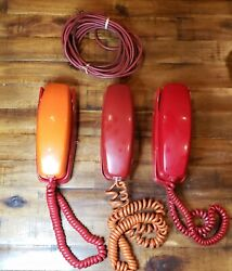 Lot Of 3 Vintage Itt Rotary Wall Phones. Untested For Parts Or Repair Only