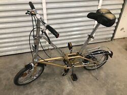 Dahon Vintage Folding Bike 16andrdquo Travel Bicycle Gold
