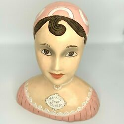 Vintage Hat Display Stand Chapeou Pour Rosette Mannequin Bust Woman French Style