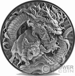 Chinese Dragon And Ox 2 Oz Silver Coin 10 Tokelau 2021