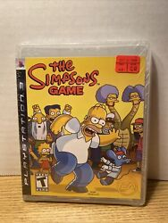 The Simpsons Game Sony Playstation, 2007 Brand New Sealed See Pics