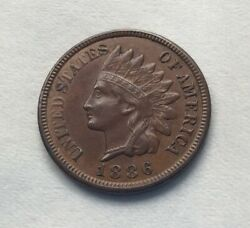 1886 Indian Head Cent Type 2 Variety - Highly Sought After Rare B528021