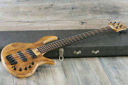 Super Clean And Funky Elrick Evolution Gold Series 4-string Bass + Original Case