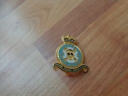 Raf Royal Air Force Museum No.100 Squadron Gold Plated Enamel Pin Badge
