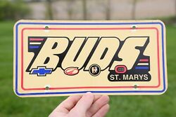 Vintage Chevy Buick Dealer License Plate Buds Chevrolet Accessory Tag Sign