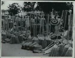 1961 Press Photo Forest Of Brooms Awaited At The Broom Vender Stands Madagascar