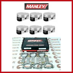 Manley 84.50mm Bore 10.2 Cr +0.5mm Piston And 5.709 H-beam Rod Set For Bmw N54b30