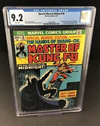 Special Marvel Edition 16 Cgc 9.2 Wh 1st Midnight Shang-chi Master Of Kung Fu