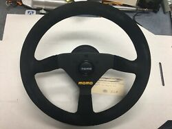 Momo Steering Wheel, Black, Suede, 330mm For Porsche 911 With Horn Button