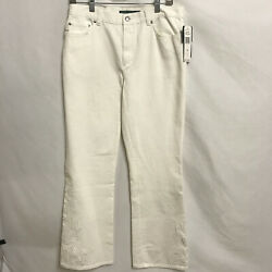Lauren Jeans Co. Nwt Womenand039s Size 8 Moreton Hall Embroidered White Jeans