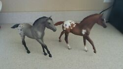 Breyer 238 And 763 Appaloosa Action Stock Horse Foals
