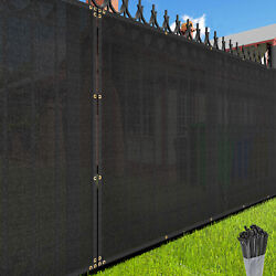 6 Ft Tall Black Privacy Screen Fence Windscreen Mesh Shade Cover Custom Length