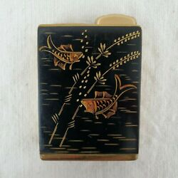Vintage Consul Amor Perfume Atomizer W Germany Art Deco Etched Fish Purse Travel