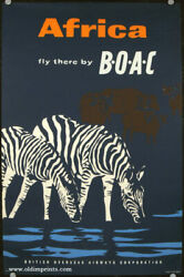 Africa B O A C. / Africa Fly There By Boac British Overseas Airways Corporation