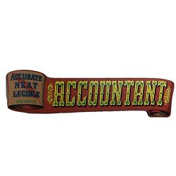 Vtg Yorkraft Inc 1970 Accountant Sign Accounting Accurate Neat Legible 20 Scroll