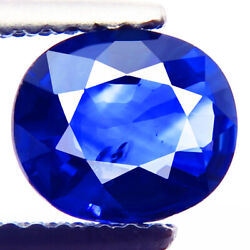 1.42ct Natural Best 5a+royal Blue Ceylon Sapphire Oval Awesome Dazzling Gemstone