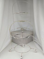 2 Stunning Edwardian English Cake Stands C.1910 Good Order Silver Plate