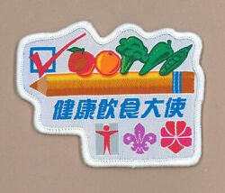 Hong Kong Scouts And Girl Guides Gg - Healthy Eating Ambassador 2007 Patch
