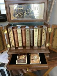 Beautiful Franklin Mint Aces And Eights Collector's Edition Poker Set Box Booklet