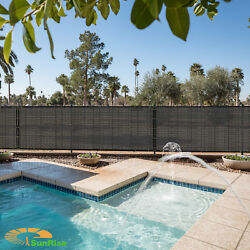5ft Tall Black Fence Privacy Commercial Screen Coated Polyester 250gsm Custom